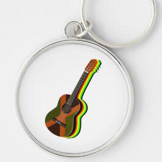 Rastafarian Reggae-Gitarren-jamaikanische Flagge Schlüsselanhänger