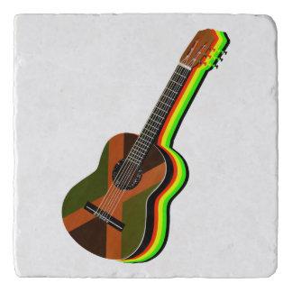 Rastafarian Reggae-Gitarren-jamaikanische Flagge Töpfeuntersetzer