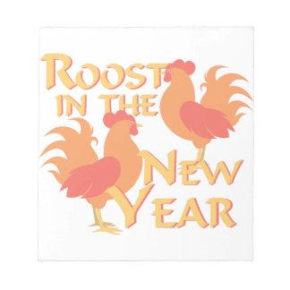 Rastplatz im neuen Jahr Notizblock