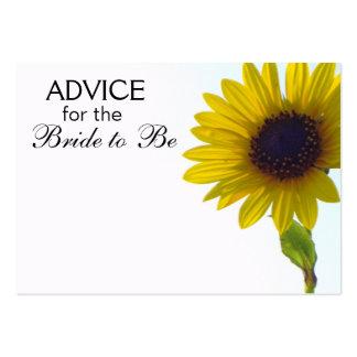 Rat, damit die Braut hohe Sonnenblume-Karten ist Visitenkarte