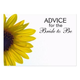 Rat, damit die Braut riesige Sonnenblume-Karten Mini-Visitenkarten
