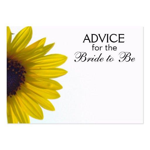 Rat, damit die Braut riesige Sonnenblume-Karten Visitenkarten Vorlagen