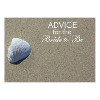 Rat, damit die Braut Strand-SeeMuschel-Karten ist Visitenkarten