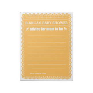 Rat, damit die Mamma orange Papel Picado Dusche Notizblock