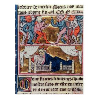 Rat der Dämonen, 'vom l'Histoire de Merlin' Postkarte