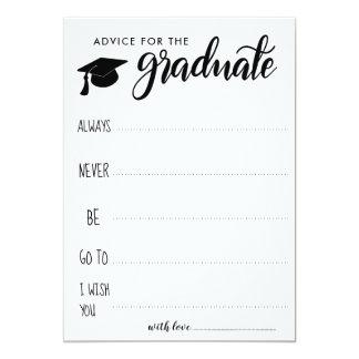 Rat für den graduierten | Minimalisten Karte