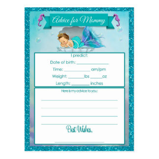 Rat für Mama-Babyparty-Karten Postkarte