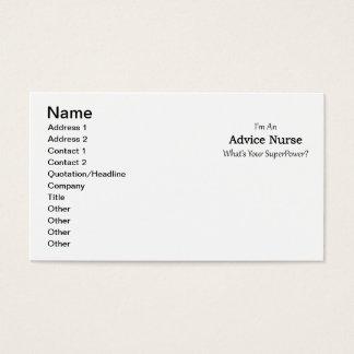 Ratekrankenschwester Visitenkarte