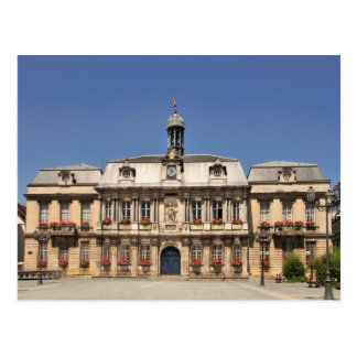 Rathaus an Postkarte Troyes Frankreich