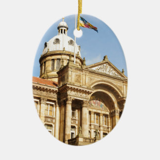 Rathaus in Birmingham, England Großbritannien Ovales Keramik Ornament