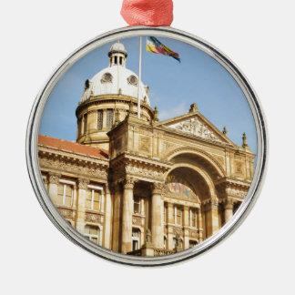Rathaus in Birmingham, England Großbritannien Silbernes Ornament