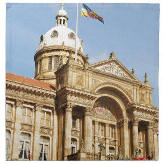 Rathaus in Birmingham, England Großbritannien Stoffserviette