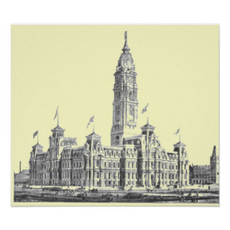 Rathaus Philadelphia PA 1891 Poster
