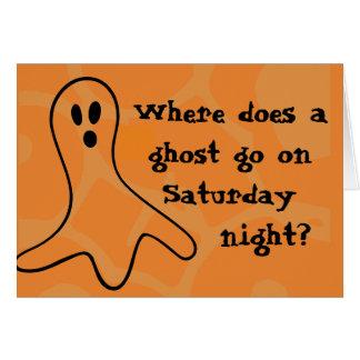 Rätsel-Halloween-Geist Grußkarte