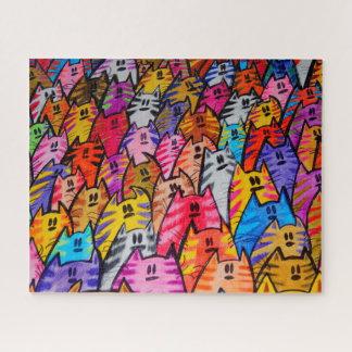 Rätsel - puzzle Katzen 05