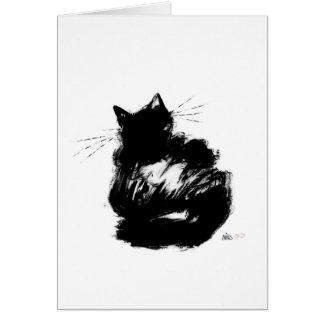 Rätselhafte schwarze Katze Karte