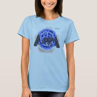Rätselhaftes Wolf-Damenbabydoll-T-Stück T-Shirt