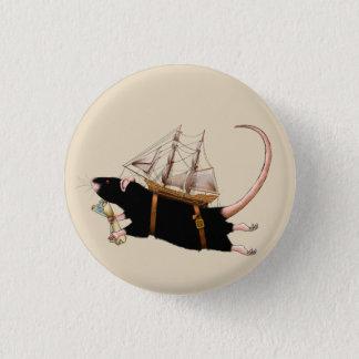 Ratte, die das sinkende Schiffs-Abzeichen ...... Runder Button 2,5 Cm