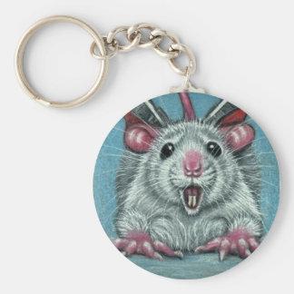 Ratte gefallener Skater Keychain Standard Runder Schlüsselanhänger