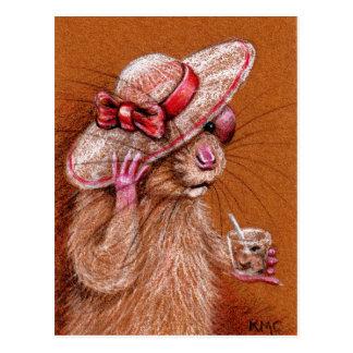 Ratte in der schlaffen Hut-Postkarte Postkarte