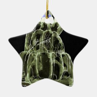 Ratte jello der grüne Tee der tony fernandess Keramik Stern-Ornament