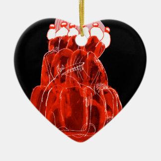 Ratte jello die Erdbeere der tony fernandess Keramik Herz-Ornament