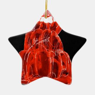 Ratte jello die Erdbeere der tony fernandess Keramik Stern-Ornament