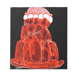 Ratte jello die Erdbeere der tony fernandess Notizblock