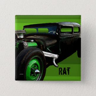 Ratte Rod Quadratischer Button 5,1 Cm