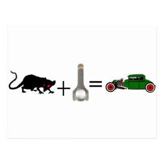 RATTE+ROD=RAT STANGE POSTKARTE