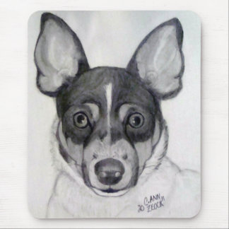 Ratte Terrier Mousepad. .artwork durch Carol Zeock Mousepad