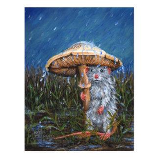 Ratte unter Pilz-Postkarte Postkarte