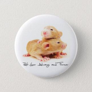 Ratten-Liebhaber immer und für immer Runder Button 5,1 Cm