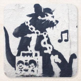 Ratten-Rapgraffiti-Kunst-Untersetzer Rechteckiger Pappuntersetzer