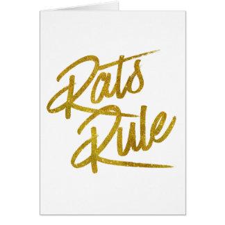 Ratten-Regel-GoldImitat-Folien-metallisches Karte