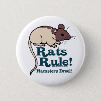 Ratten-Regel! Runder Button 5,7 Cm