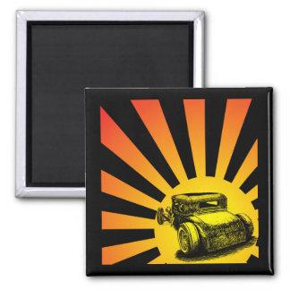 Ratten-Rod-Sonnenuntergang-Magnet Quadratischer Magnet