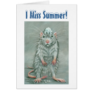 Ratten-Schneeball auf Kopf, i-Fräulein Summer! Anm Grußkarte