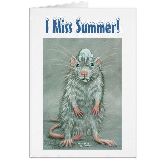 Ratten-Schneeball auf Kopf, i-Fräulein Summer! Karte