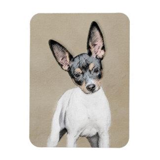 Ratten-Terrier-Malerei - niedliche ursprüngliche Magnet