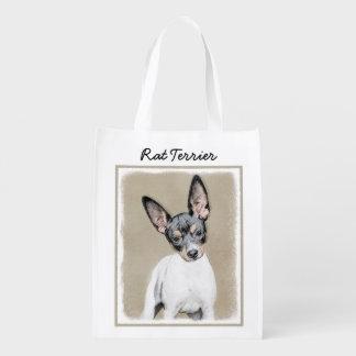 Ratten-Terrier-Malerei - niedliche ursprüngliche Wiederverwendbare Einkaufstasche