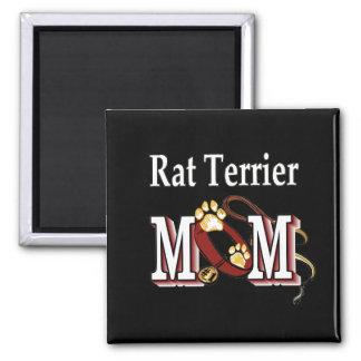 Ratten-Terrier-MAMMA Geschenke Quadratischer Magnet