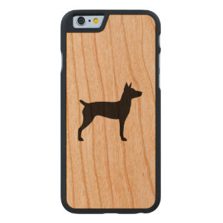 Ratten-Terrier-Silhouette Carved® iPhone 6 Hülle Kirsche