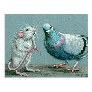 Ratten-und Tauben-Postkarte
