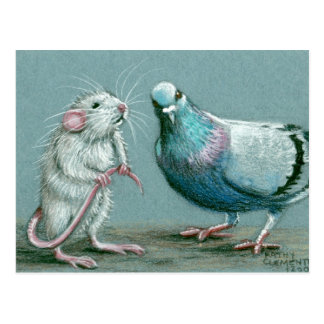 Ratten-und Tauben-Postkarte Postkarte