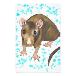 Ratten-Wasserfarbe Briefpapier