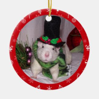Ratten-Weihnachtsverzierung Keramik Ornament