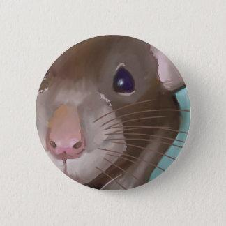 Rattengesicht Runder Button 5,7 Cm