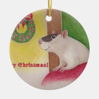 Ratty Weihnachten Keramik Ornament