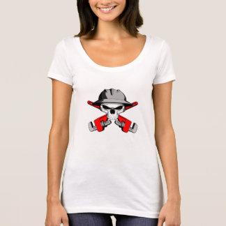 Raubein-Schädel und gekreuzte Schlüssel T-Shirt